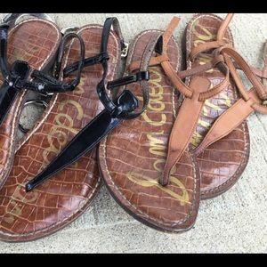 Sam Edelman two pairs thong sandals 6-6.5m